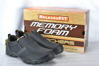 Men's Skechers Montz Devent Slip On Loafers Black