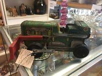 Vintage Marx's Diesel 12 TD18 Bull Dozer windup tin toy.