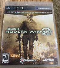 PS3 Call of Duty MW2 Modern Warfare 2 Video Game 2009 Damaged Case
