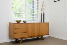 local made tassie oak hardwood timber Retro buffet sideboard 1800w Push To Open