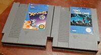Nintendo NES Xevious & Milon's Secret Castle carts cleaned & tested, authentic