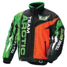 Arctic Cat Men's Sno Cross On-Track Race Jacket - Green & Orange - 5261-10_