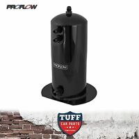 Proflow Stealth Black 2.5l Fuel Surge Tank suit Bosch 044 Fuel Pump AN Fittings