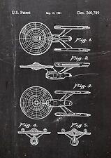 StarTrek USS Enterprise Patent Art01.Fine Art-Print in Galeriequalität A4 Seite2