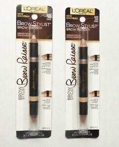 L'Oréal LOT OF 2 Brow Stylist Raiser Highlighter Duo #625 Deep