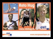 Reto Hug Autogrammkarte Original Signiert Triathlon + A 134061