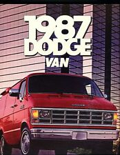 1987 Dodge Ram Van Cargo Original Sales Brochure Catalog - B150 B250 B350