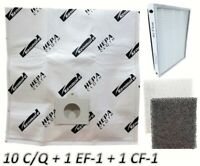10 Sears Kenmore C/Q Canister Vacuum Bags + 1 EF1 + 1 CF1 5055 50558 86889 86883