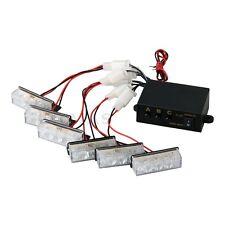 18 LED Lumière Flash Stroboscope Strobe Clignotant Jaune Alerte Voiture Auto