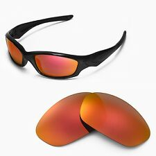 WL Polarized Fire Red Lenses For Oakley New Straight Jacket (After 2007)