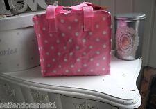 TASCHE Kulturtasche rosa pink Polka Dots Tupfen shabby chic Kindergartentasche