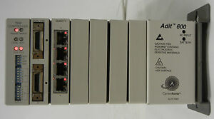 CARRIER ACCESS ADIT 600 WITH TDM CONTROLLER, QUAD T1, DUAL V35. POWERS UP FINE!!