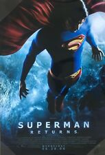 SUPERMAN RETURNS Original Movie Poster - DC Comic Superhero Double Sided 27x40