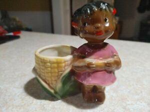 Vintage  Corn Planter Black Americana Girl