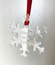 Clear Acrylic Hanging Snowflake - Christmas Tree / Home Decor- Free Personal