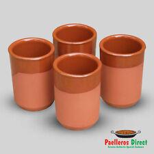 Set of 4 Spanish Terracotta Beer Glasses - Vaso Cana - 250ml