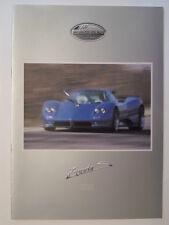 PAGANI ZONDA C12 S 7.3 LITRE orig 1999 2000 Sales Brochure Depliant Prospekt