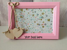 Personalised Wooden Photo Frame Choose your own text Gift Keepsake 4 x 6