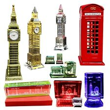 More details for london big ben crystal glass - telephone money coins box - england souvenir gift