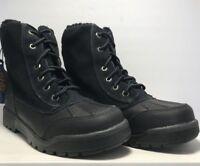 Timberland Junior Kids Size 4 6-Inch Field Duck Boot Black Nubuck Boots
