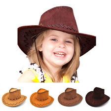 Wild West Retro Cowboy Cowgirl Hats Unisex Kids Fancy Dress Up Denim Hat