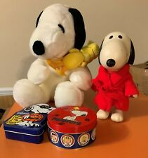 Vintage Rubber Snoopy Doll + other items