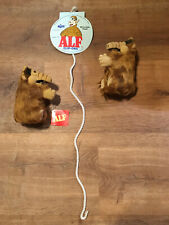 Vintage 1988 Russ 6 Inch Alf Plush Clip-Ons with Display Rope (New)