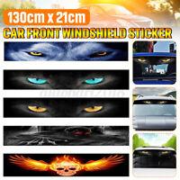 Car Front Rear Window Windshield Sun Shade 3D Stereo Decal Sun Visor Strip DIY