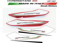 Adesivi per codino Ducati Hypermotard 821 design personalizzato