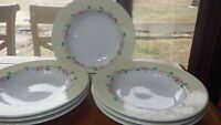 "Large Rim Soup Bowl Grandma's Kitchen by PFALTZGRAFF 7 9"" rimmed round bowl EUC"