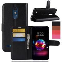 Fr LG K10 2018/K30/Premier Pro Card Slot Flip PU Leather Wallet Case Stand Cover