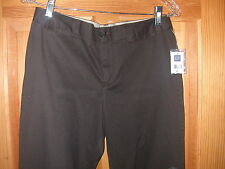 NWT Women's Gap  Cotton Brown Stretch Pants - sz 8