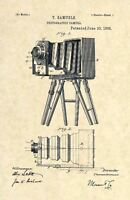 Official Photography Camera US Patent Art Print - Vintage Antique Photo 1885 168