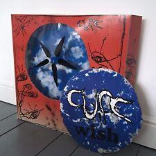 """The Cure - Wish ORIGINAL 1992 30"""" x 30"""" 3D PROMO SHOP DISPLAY LP"""