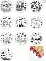 Christmas Nail Art Decals Stamping Plate