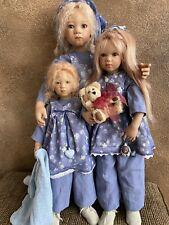 Annette Himstedt Three dolls,Trinchen,Griti,Trud i