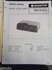 SANYO Vintage Original AM/FM Digital Clock Radio RM 5400 Service Manual