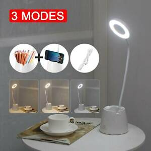 LED USB Clip On Flexible Desk Lamp Dimmable Memory Bed Read Table Study Light UK