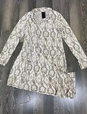 Women's Rundholz Black Label Floral Dress Size M Long Sleeve With Pockets