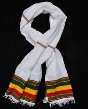 Hand Woven Ethiopian Rasta Scarf Head wrap African Haile Selassie Regge