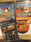 4 PAL PLAYSTATION 2 PS2 TONY HAWK'S GAME BUNDLE PRO SKATER 3 4 & UNDERGROUND 1 2