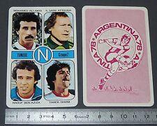 ATTOUGA DHIAB BEN AZIZA TUNISIE AGEDUCATIFS FOOTBALL ARGENTINA 78 1978 PANINI