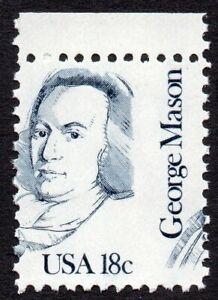 1858 18¢ Mason misperf MNH