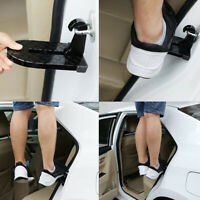 Car Door Latch Hook Foot Pedal Ladder Portable Car Roof Pedal Black Folding 1x