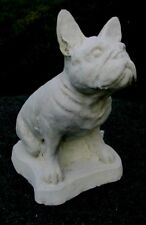 CONCRETE FRENCH BULLDOG STATUE, MEMORIAL OR GRAVE MARKER