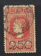 NETHERLANDS : 1920 2g50 on 10g red SG 237   fine used