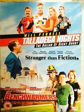 Will Ferrell TALLADEGA NIGHTS / STRANGER THAN FICTION / BENCHWARMERS UK DVD