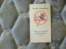 1950 NEW YORK YANKEES MEDIA GUIDE ROSTER Yearbook JOE DIMAGGIO WORLD SERIES AD