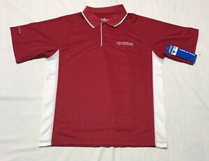 Charles River Apparel Men's M Classic Wicking Polo Red White Short Sleeve Toyota