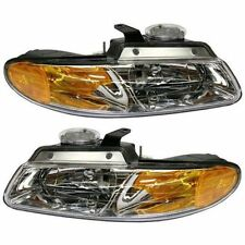 96-99 Pair Set Left & Right Plymouth Voyager Dodge Caravan Headlights Headlamps